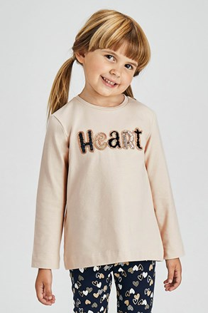 Mayoral Heart lányka szett, leggings és póló