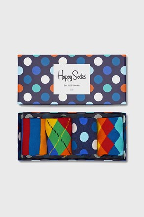 4 PÁR Happy Socks Multicolor zokni