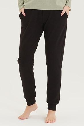 Női szabadidő nadrág, fekete