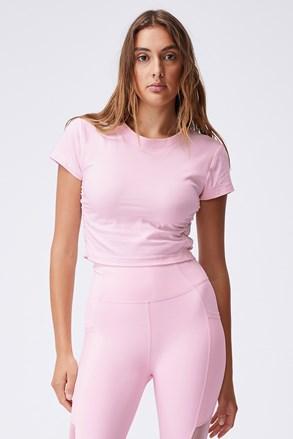 Side női póló rózsaszín
