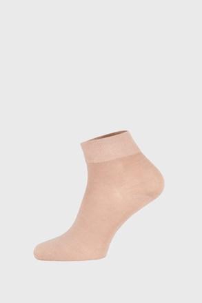 Bézs bambusz zokni, középmagas