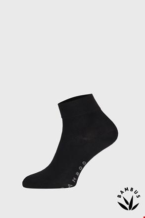 Fekete bambusz zokni, középmagas