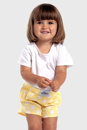 ELKA LOUNGE gyermek sort, Sárga pöttyök