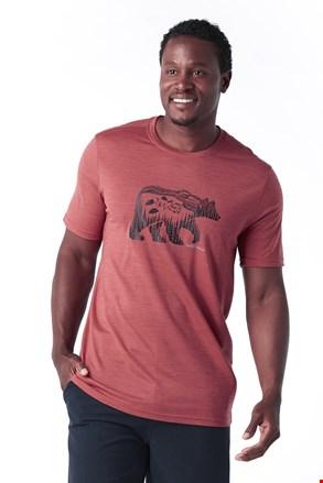 SMARTWOOL Merino 150 férfi póló, piros