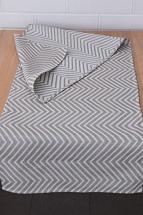 Home Design asztali futó, csíkos mintás, bézs
