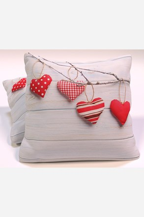 Vintage Hearts dekorációs kispárna