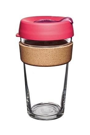 Keepcup utazó bögre parafával, rózsaszín, 454 ml