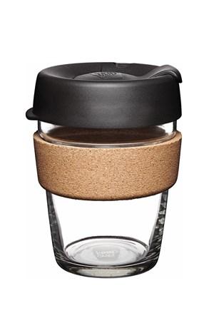 Keepcup utazó bögre parafával, fekete, 340 ml