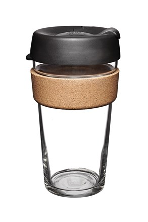 Keepcup utazó bögre parafával, fekete, 454 ml