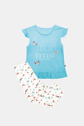 Lila lányka pizsama, kék