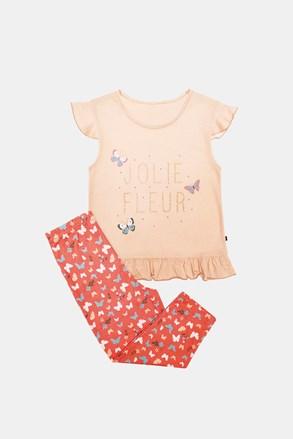 Lila lányka pizsama, narancssárga