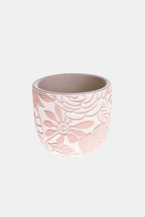 Virágkaspó betonból, rózsaszínű