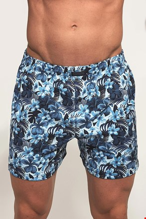 Classic Blue flowers férfi alsónadrág