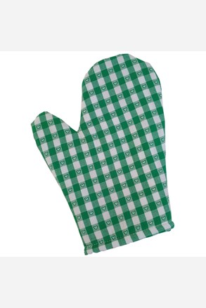 Kanafas edényfogó, zöld