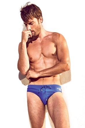 DAVID 52 Basic Slip Royal Blue férfi úszónadrág