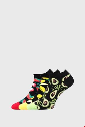 Női zokni, gyümölcs mintával, 3 pár