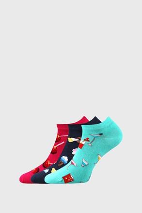 Női zokni édességekkel, 3 pár