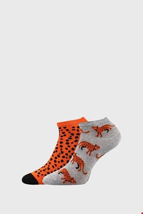Leopárd mintás női zokni, 2 pár