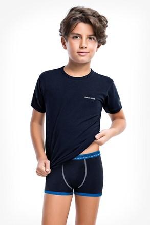 Kék fiú alsónemű szett, boxeralsó és póló