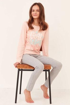 Good night baracskszínű lány pizsama