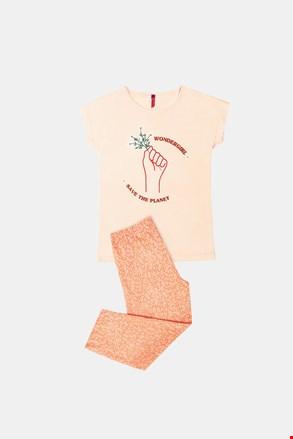 Save planet lányka pizsama, narancssárga