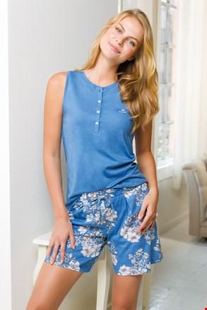 Női pizsama szett, kék, rövid