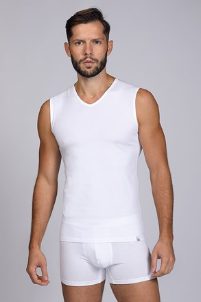 Fehér férfi alsó trikó, ujjatlan