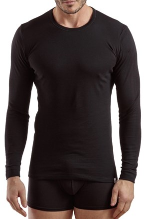 Férfi póló 1204, hosszú ujjú, fekete