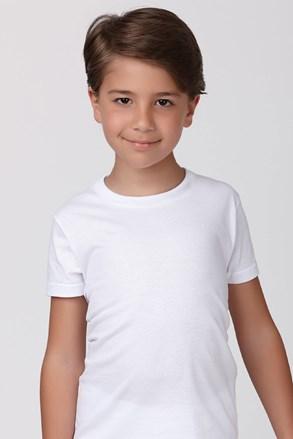 Fiú pamut póló fehér