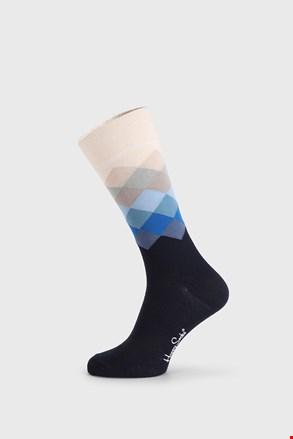 Happy Socks Faded Diamond kék zokni