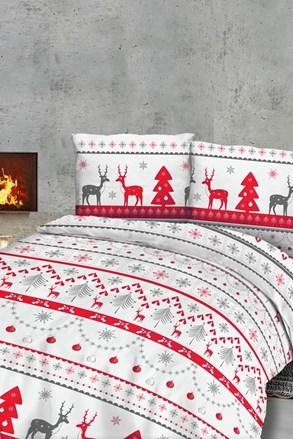 Karácsonyi rénszarvas flanel ágynemű