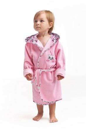 Kitten gyerek fürdőköpeny, rózsaszín