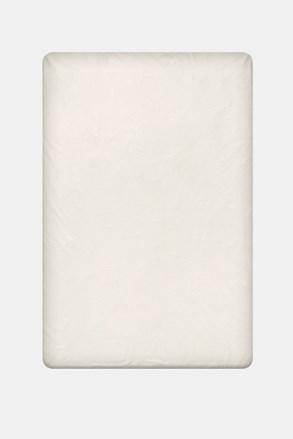 Pamut lepedő gumírozott szélek nélkül, krémszínű