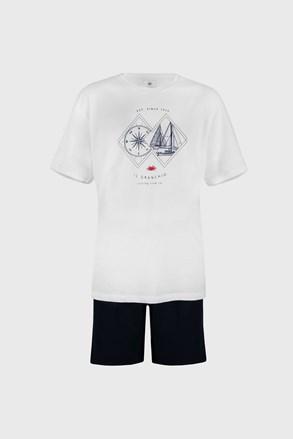 Fehér pizsama Sailing PLUS SIZE