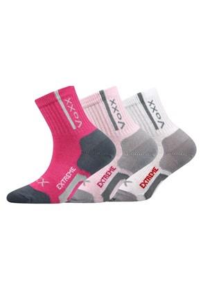 Josífek lányka sport zokni, 3 pár 1 csomagban
