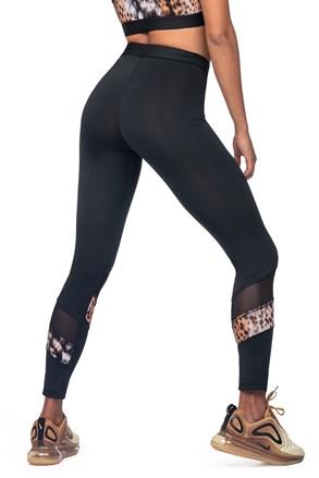 Női sport leggings, állatmintás motívummal