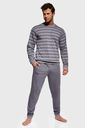 Szürke csíkos pizsama Loose