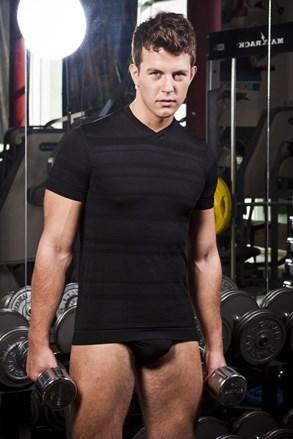 HASTER Slimfit Sport férfi póló, varrások nélkül