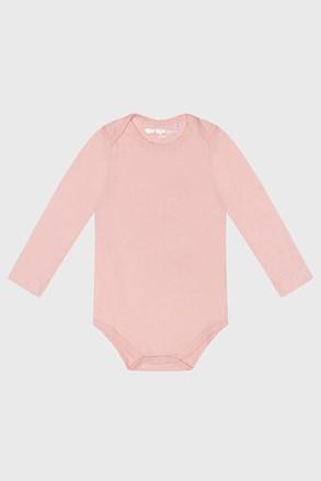 Baby hosszú ujjú baba body kislányok számára, rózsaszín