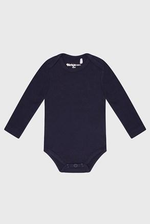 Kék Baby hosszú ujjú fiú csecsemő body