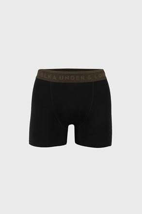 Boxeralsó fekete, derékban khaki színű gumival ELKA LOUNGE