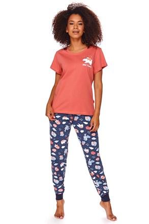 Ruth női pizsama, piros