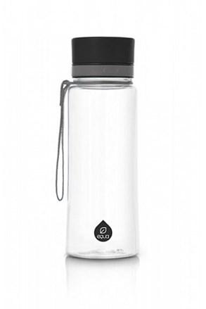 EQUA Plain Black műanyag palack, 600 ml