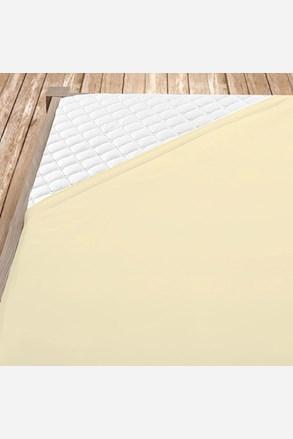 Flanel gumis lepedő krém színű