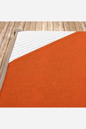 Narancs frottír gumis lepedő