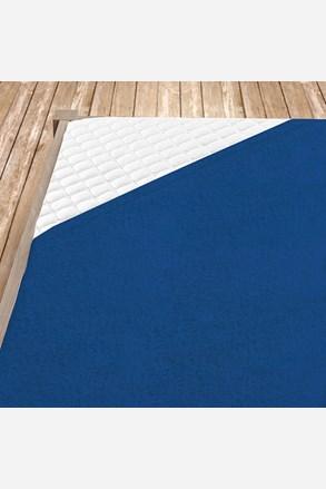 Frottír gumis lepedő sötét kék