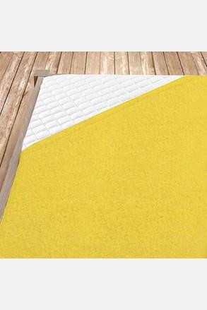 Frottír gumis lepedő sárga szín