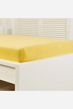 Frottír gumis lepedő sárga
