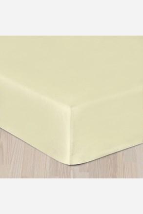 Gumis pamut szatén lepedő krém színű
