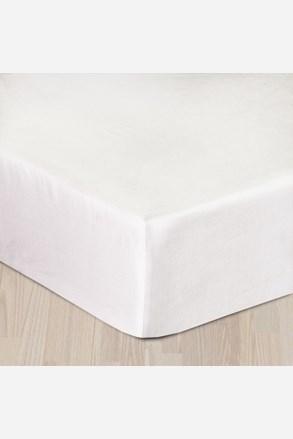 Gumis pamut szatén lepedő fehér